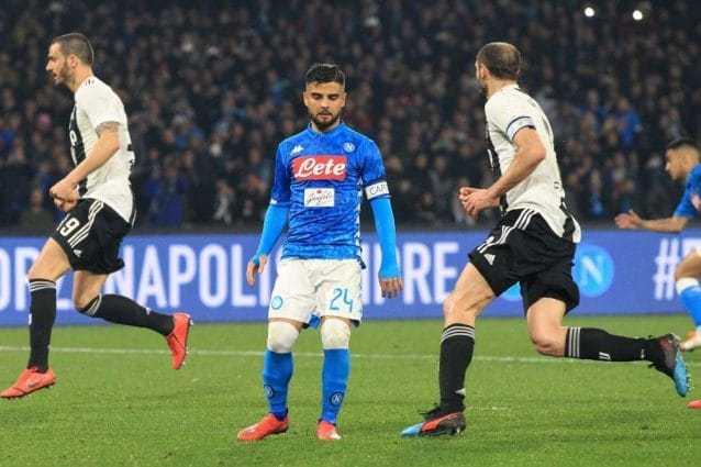 Tocchi e movimenti in attacco di Napoli e Juve